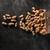 essiccati · arachidi · buio · top · view · foto - foto d'archivio © deandrobot
