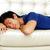 homem · adormecido · sofá · moço · casa · laptop - foto stock © deandrobot