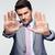 üzletember · mutat · stop · kézmozdulat · kommunikáció · vállalati - stock fotó © deandrobot