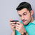 человека · играет · мобильных · видеоигра · смартфон · современных - Сток-фото © deandrobot