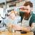 barista · kahve · kafe · cam · mutfak · alışveriş - stok fotoğraf © deandrobot
