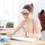 creatieve · vrouw · mode · ontwerper · bril · vergadering - stockfoto © deandrobot