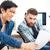 二人の男性 · 会議 · 創造 · オフィス · ビジネス · ビジネスマン - ストックフォト © deandrobot