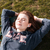 mooie · vrouw · genieten · zon · portret - stockfoto © deandrobot
