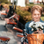 молодые · Vintage · велосипед · блондинка · улыбающаяся · женщина - Сток-фото © deandrobot