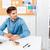 zagęszczony · biznesmen · pracy · laptop · biuro · brodaty - zdjęcia stock © deandrobot