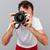レンズ · 手 · カメラマン · デザイン · 技術 - ストックフォト © deandrobot