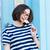 vrolijk · jonge · vrouw · permanente · lolly · Blauw · vrouw - stockfoto © deandrobot