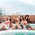 üç · kızlar · oturma · yüzme · havuzu · yaz · rahatlatıcı - stok fotoğraf © deandrobot