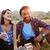 grupo · alegre · jóvenes · cerveza · sosa · aire · libre - foto stock © deandrobot