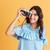 retrato · jóvenes · caucásico · mujer · autorretrato - foto stock © deandrobot