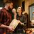 loving couple in supermarket choosing pastries stock photo © deandrobot