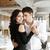 loving happy couple dancing in restaurant indoors stock photo © deandrobot