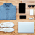 viajar · sapatos · camisas · telefone · móvel · mp3 · usb - foto stock © deandrobot