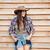 スリム · 女性 · 立って · シーソー · 木製 · 少女 - ストックフォト © deandrobot
