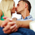 loving young couple kissing at home stock photo © deandrobot