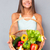 женщину · корзины · овощей · улице · саду - Сток-фото © deandrobot