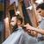 férfi · fodrász · körülvágó · vág · szakáll · szalon - stock fotó © deandrobot