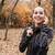 alegre · corredor · quente · roupa · outono · parque - foto stock © deandrobot