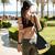 fitnessz · lány · zenét · hallgat · mobiltelefon · fülhallgató · aranyos - stock fotó © deandrobot
