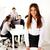 radosny · spotkanie · portret · posiedzenia · tabeli - zdjęcia stock © deandrobot