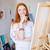 женщины · художника · женщину · строительство · работник · инструментом - Сток-фото © deandrobot