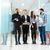group of business people standing in the office stock photo © deandrobot