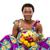 bella · african · american · donna · frutta · arancione · giovani · up - foto d'archivio © deandrobot