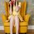 függőleges · kép · sír · nő · fotel · beszél - stock fotó © deandrobot