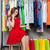 女性の携帯電話 · 服 · ショップ · 女性 · 立って - ストックフォト © deandrobot