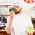 feliz · masculina · chef · cocinar · algo · batidor - foto stock © deandrobot