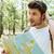 турист · карта · лес · человека · походов · зеленый - Сток-фото © deandrobot