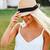 portre · kız · yaz · şapka · güzel - stok fotoğraf © deandrobot