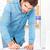 ハンサム · ビジネスマン · ノート · オフィス · 小さな - ストックフォト © deandrobot