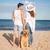 romantik · ayakta · deniz · kıyı · köpek - stok fotoğraf © deandrobot