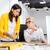 2 · 小さな · 成熟した · オフィス · 女性 - ストックフォト © deandrobot
