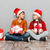 two cute children in santa claus hats holding gift boxes stock photo © deandrobot