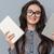 女性 · 眼鏡 · 図書 · 肖像 · 若い女性 - ストックフォト © deandrobot