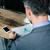 ビジネスマン · 読む · バー · ガラス · カクテル · 座って - ストックフォト © deandrobot