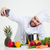 férfi · szakács · szakács · készít · fotó · portré - stock fotó © deandrobot