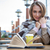 студент · сидят · книга · кофе · кафе · портрет - Сток-фото © deandrobot