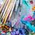 art · palette · pinceaux · couleurs - photo stock © deandrobot