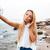 plaży · wakacje · podróży · kobieta · telefonu - zdjęcia stock © deandrobot