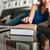 koncentrált · nő · olvas · könyv · kanapé · otthon - stock fotó © deandrobot