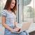 деловая · женщина · используя · ноутбук · улице · мнение · деловой · женщины · компьютер - Сток-фото © deandrobot