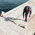 corredor · escaleras · hombre · mar · fitness · salud - foto stock © deandrobot