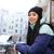 заморожены · азиатских · женщину · одежды · Постоянный - Сток-фото © deandrobot