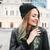 vrolijk · jonge · vrouw · hoed · lopen · straat - stockfoto © deandrobot