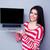 笑みを浮かべて · 美人 · ノートパソコン · 画面 · ビジネス - ストックフォト © deandrobot