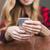 женщины · рук · сотового · телефона · сидят - Сток-фото © deandrobot